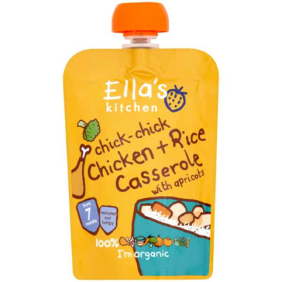 Ella's Kitchen Chicken & Rice Casserole with Apricots RRP £1.79 **SPECIAL ORDER** 130g