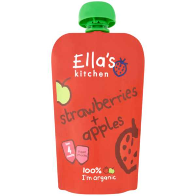 Ella's Kitchen Strawberries & Apples Stage 1 RRP £1.79 **SPECIAL ORDER** 120g