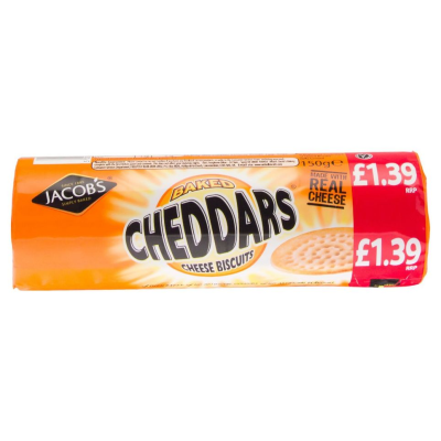 Jacobs Cheddars PM £1.39  150g