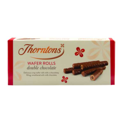 Thorntons Double Chocolate Wafer Rolls (VT) RRP £1.69 110g