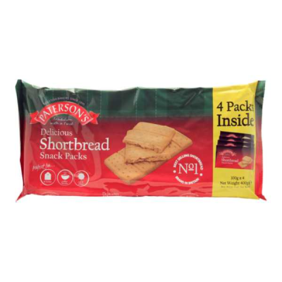 Patersons Shortbread 4 Pack RRP £1.29 4x100g